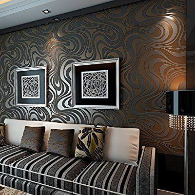 Europa HANMERO®moderne Vliestapete Curve Dual-Version Schaum Sonne - wohnzimmer gold schwarz