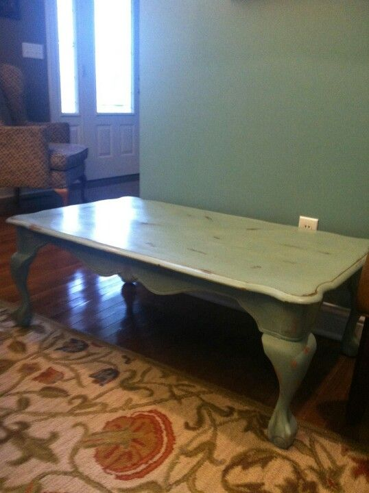 Annie Sloan Chalk Paint Coffee Table In Duck Egg Blue With Images