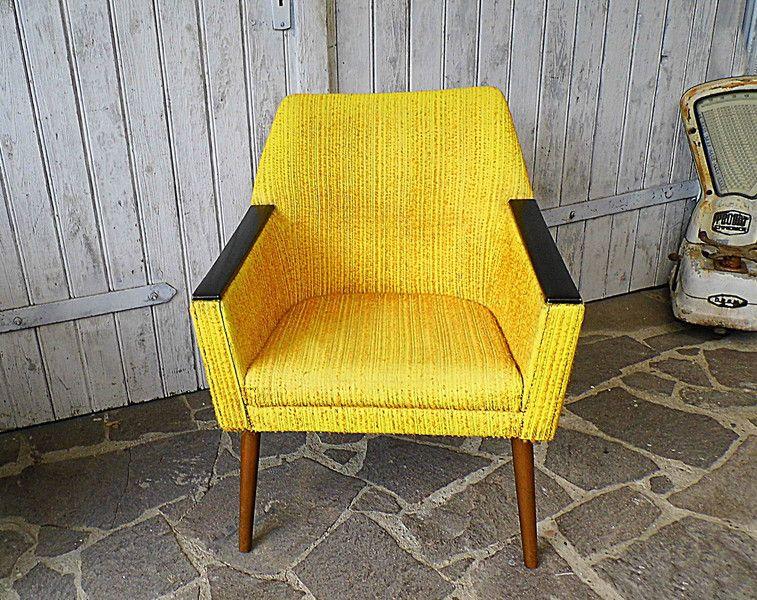 Vintage Sessel Gelber Sessel Cocktailsessel 50er 60er Ein Designerstuck Von Gerne Wieder Bei Dawanda Vintage Sessel Cocktailsessel Sessel Gelb