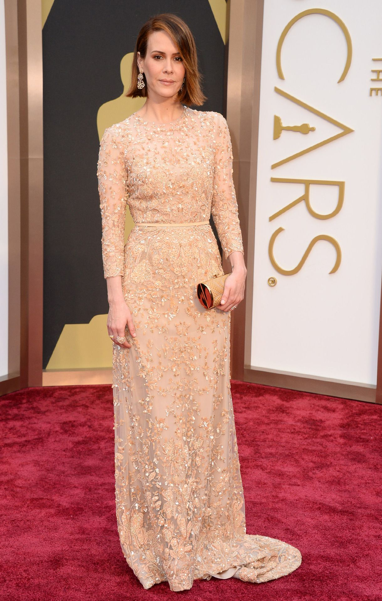 Sarah Paulson in Elie Saab - 2014 Oscars, March 2nd