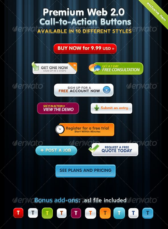 Premium Web 2 0 Call To Action Buttons Call To Action Email Design Inspiration Online Marketing Blog