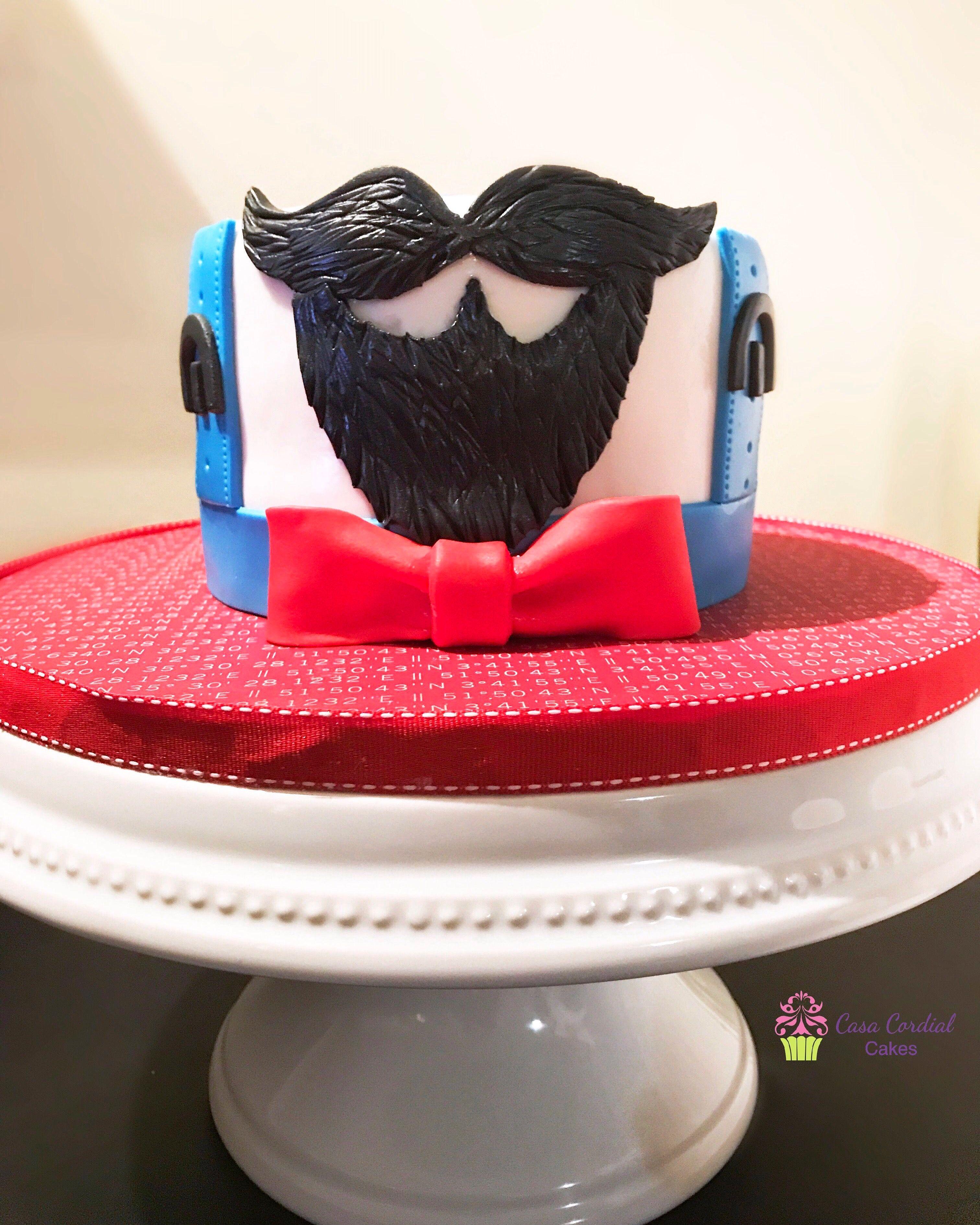 Beard And Mustache Cake With Images Beard Cake Baby Birthday