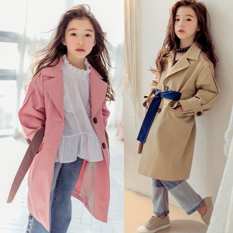 a308f1590 Girls Coats Autumn Long Sleeve Jackets for Girls Clothes Windbreaker ...
