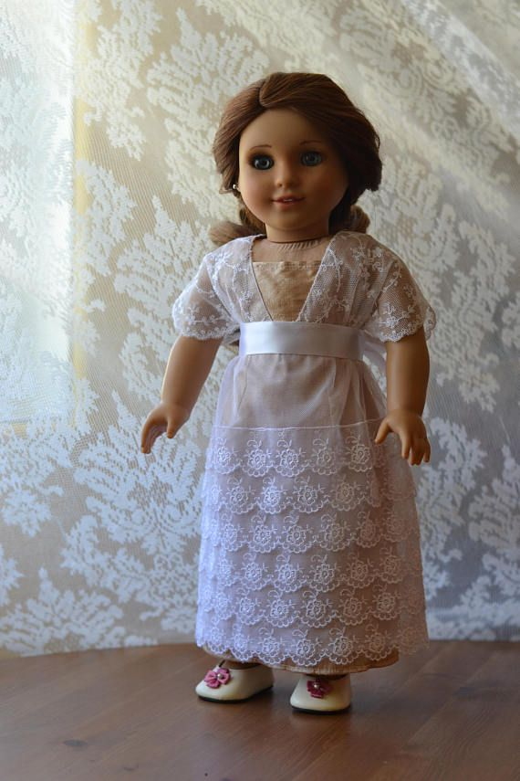 Titanic Doll Dress Downton Abbey Lace for American Girl 18 inch doll ...