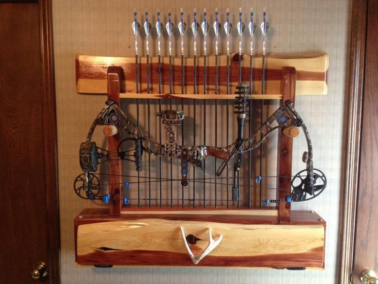 Image Result For Handmade Wooden Bow Hanger Bow Rack