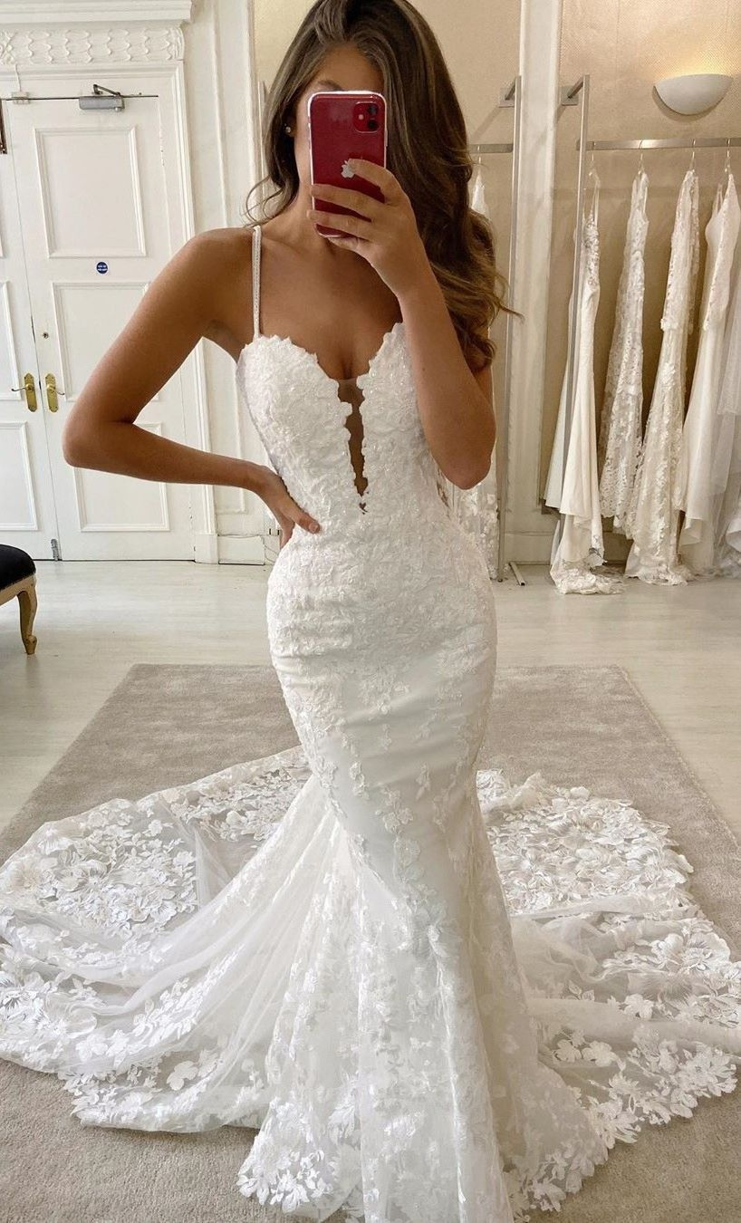 Wedding Dresses Mermaid Long Train Saleprice 62 In 2020 Fitted Wedding Dress Wedding Dress Train Lace Mermaid Wedding Dress [ 1350 x 818 Pixel ]