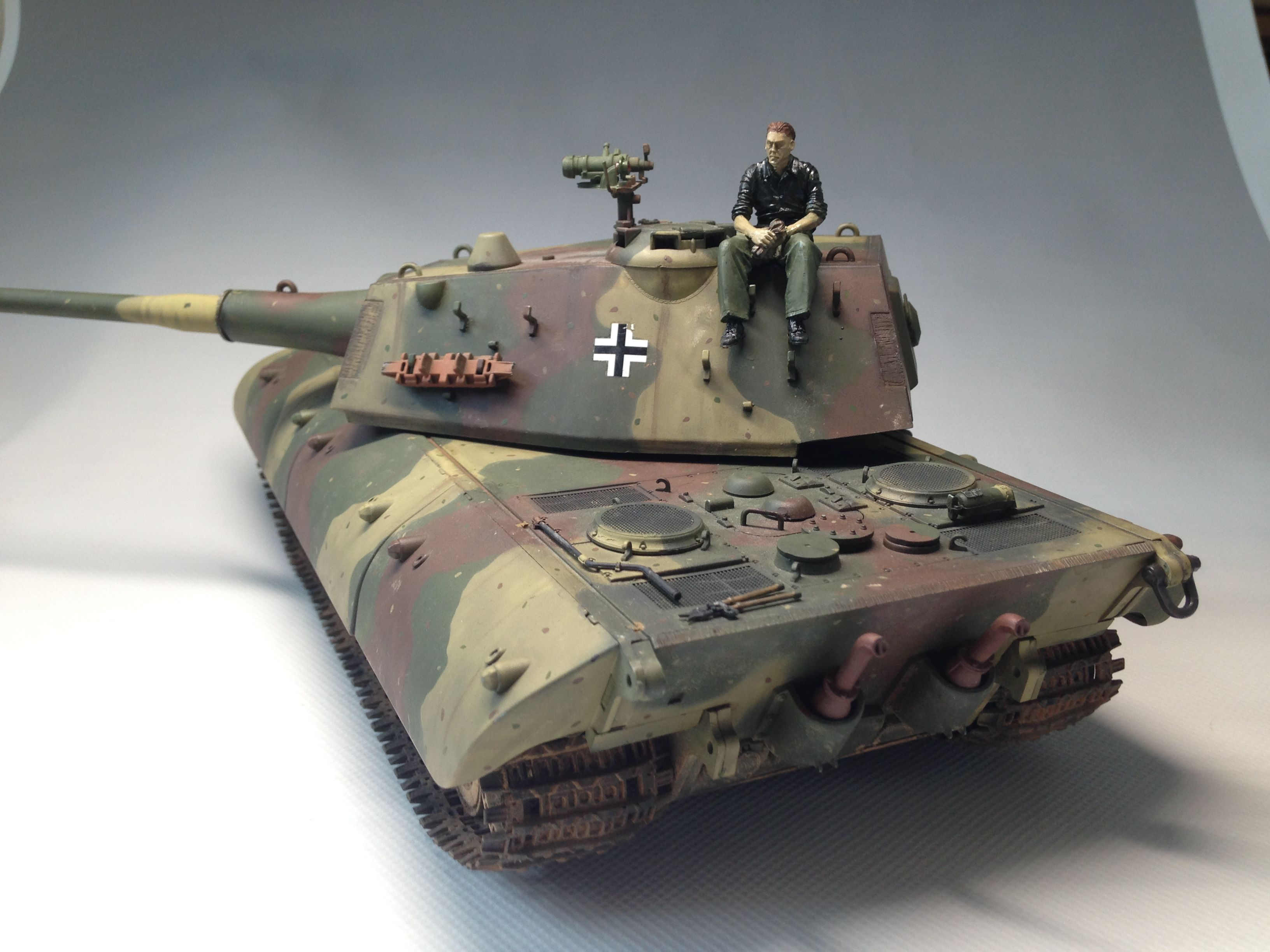 6f64dd2fd Details about German E-100 Heavy Tank WW II 1/35 PRO BUILT | WWII ...