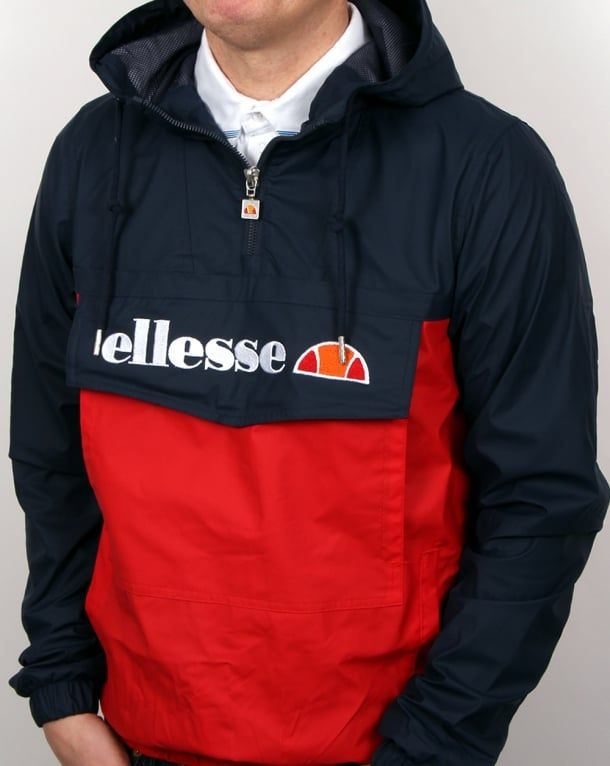 c4205e5ada Ellesse Mont Brava Quarter Zip Jacket Navy Red