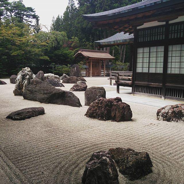 The biggest stone garden in japan it shows dragons emerging from a kongobuji zen gardensjapanese workwithnaturefo