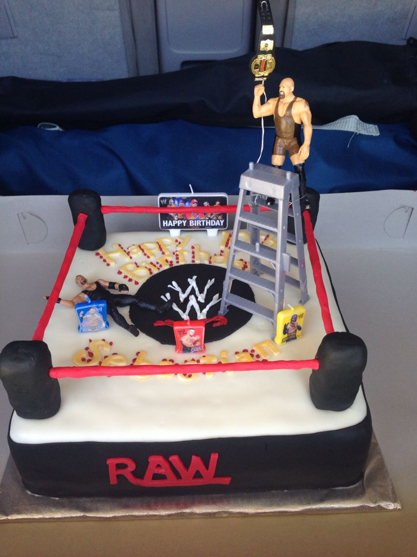 Wwe Ladder Match Wrestling Ring Cake My Cakes Cakes