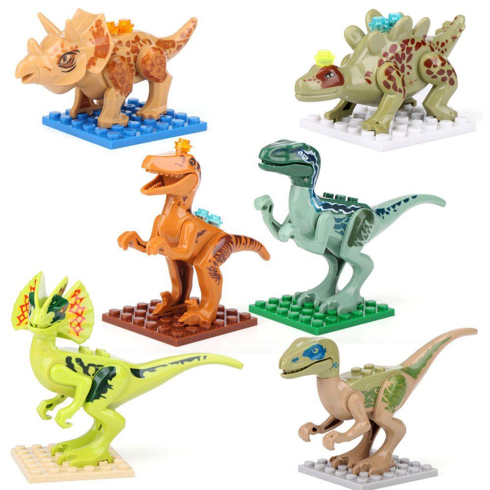 New 6 Jurassic World Minifigure Dinosaur Play Set LOT