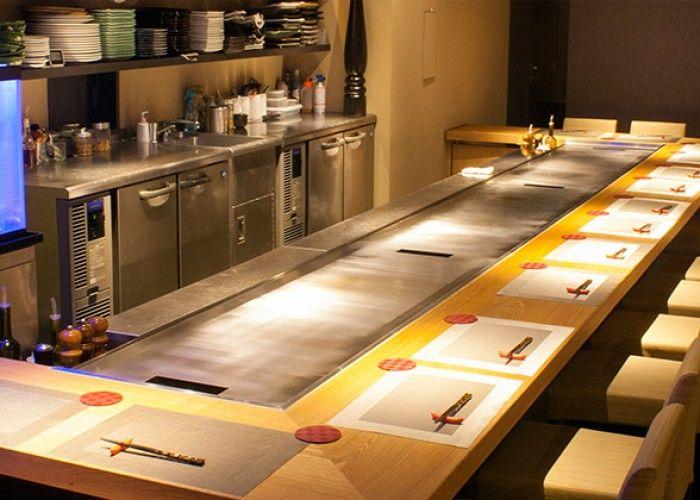 Seats At Teppanyaki Counter Recommended, Where You May Enjoy A Lively  Teppanyaki Experience!