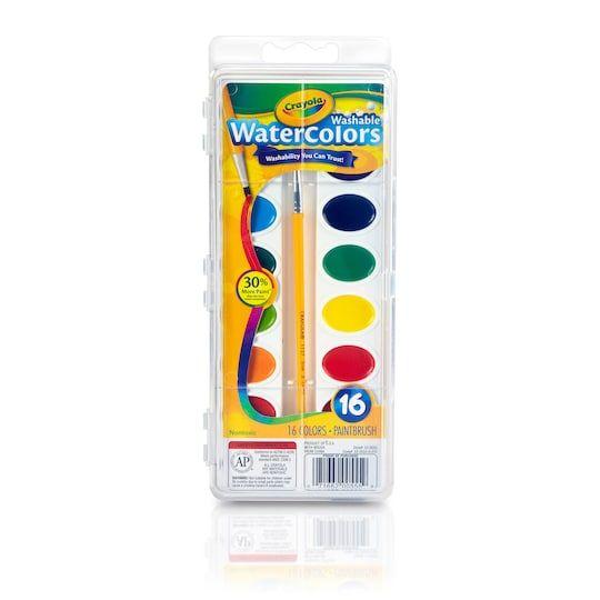 Crayola Pan Watercolors Set Paint Michaels In 2020 Paint