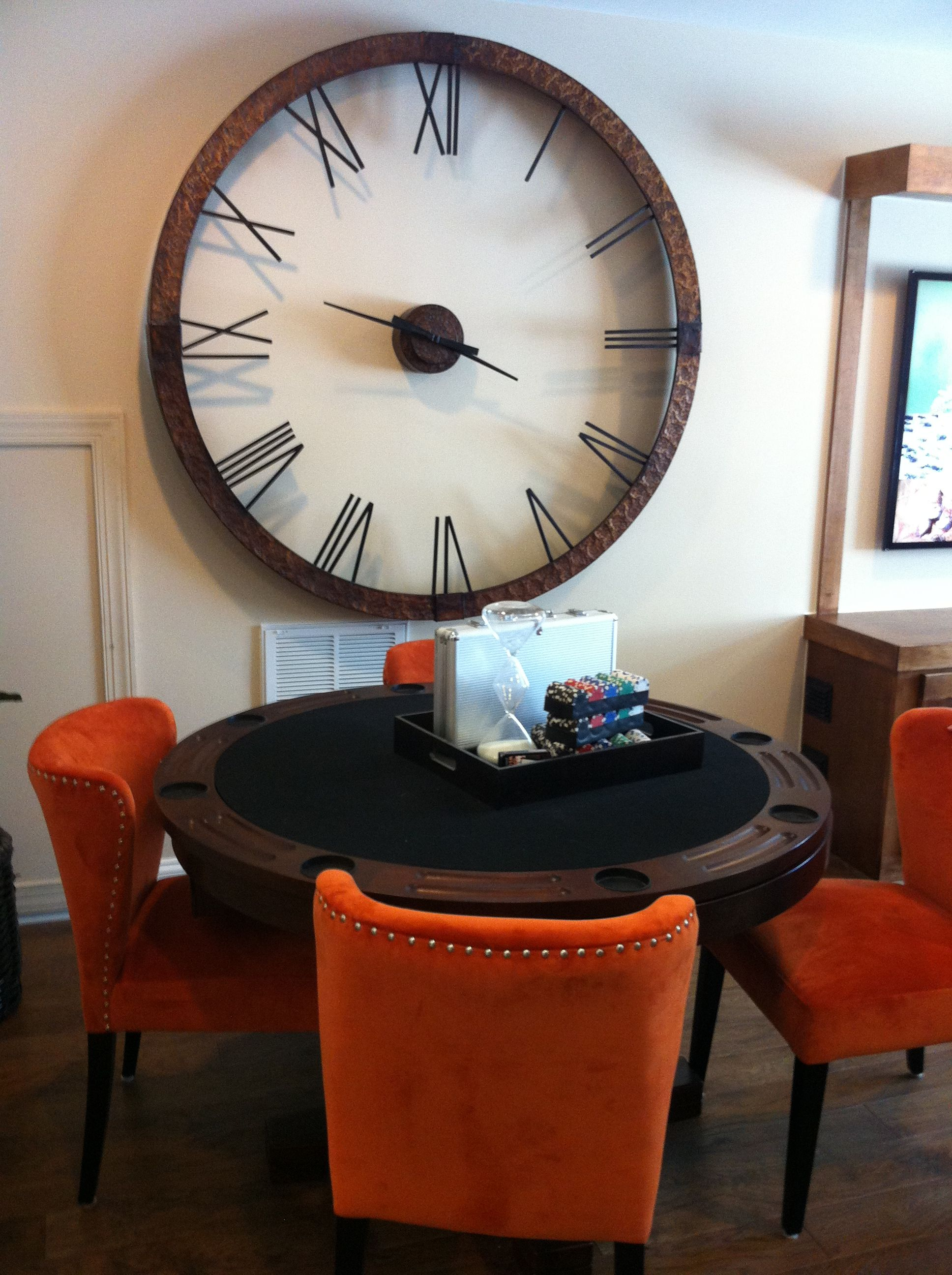 Beautiful Large Wall Clock Would Replace Hands With Sightly Longer Ones The Current Hands Look Lost On The Fa Home Decor Kitchen Wall Clocks Large Wall Clock