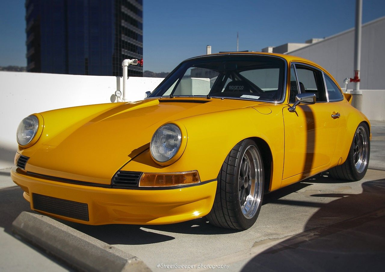 Cars colored yellow -  Porsche In Bahama Yellow