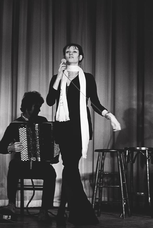 Barbara à l'Olympia  29/01/1969  Crédits : René Vital / Paris Match avec @Paris Match