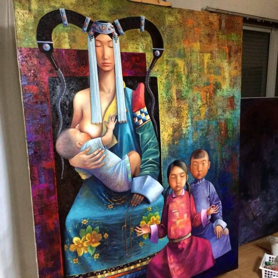 By Mongolian painter S,Zayasaikhan
