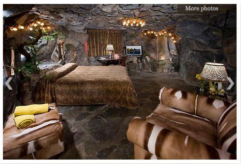 Caveman Room At The Madonna Inn With A Man Madonna Inn Rooms Themed Hotel Rooms Unusual Hotels