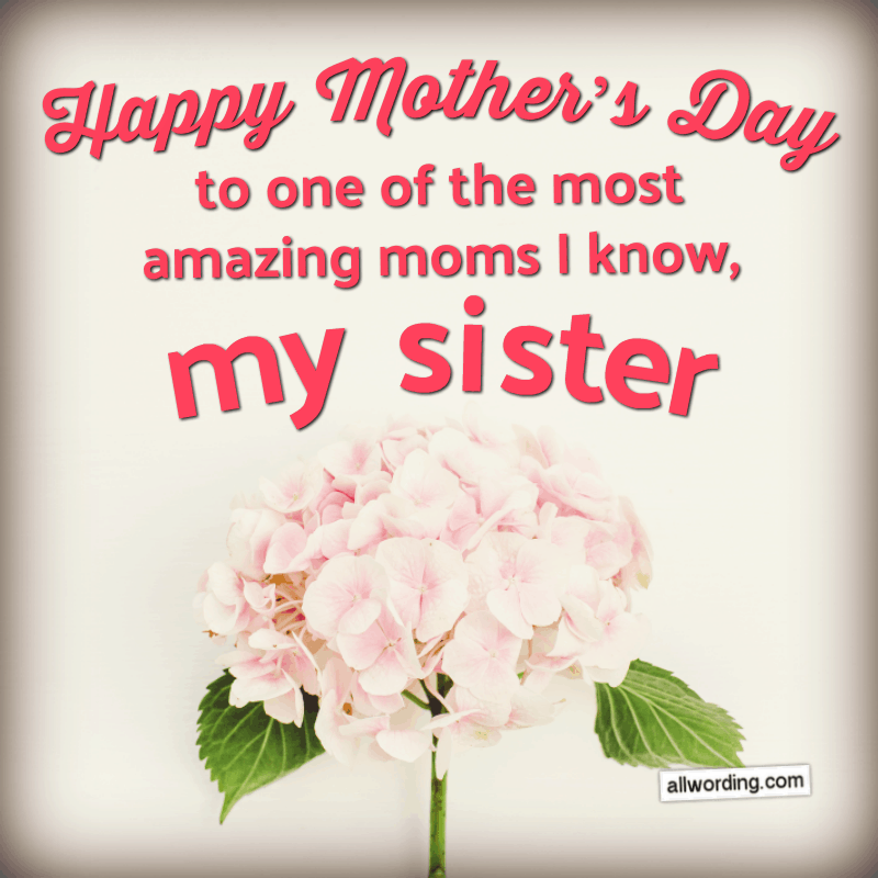 30 Ways To Say Happy Mother S Day To Your Sister Happy Mothers Day Sister Happy Mothers Day Wishes Mother Day Message