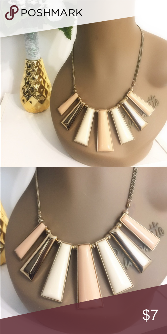 5fc561e2d4a Peach Gold & Tan Costume Jewelry Necklace in 2018 | My Posh Closet ...