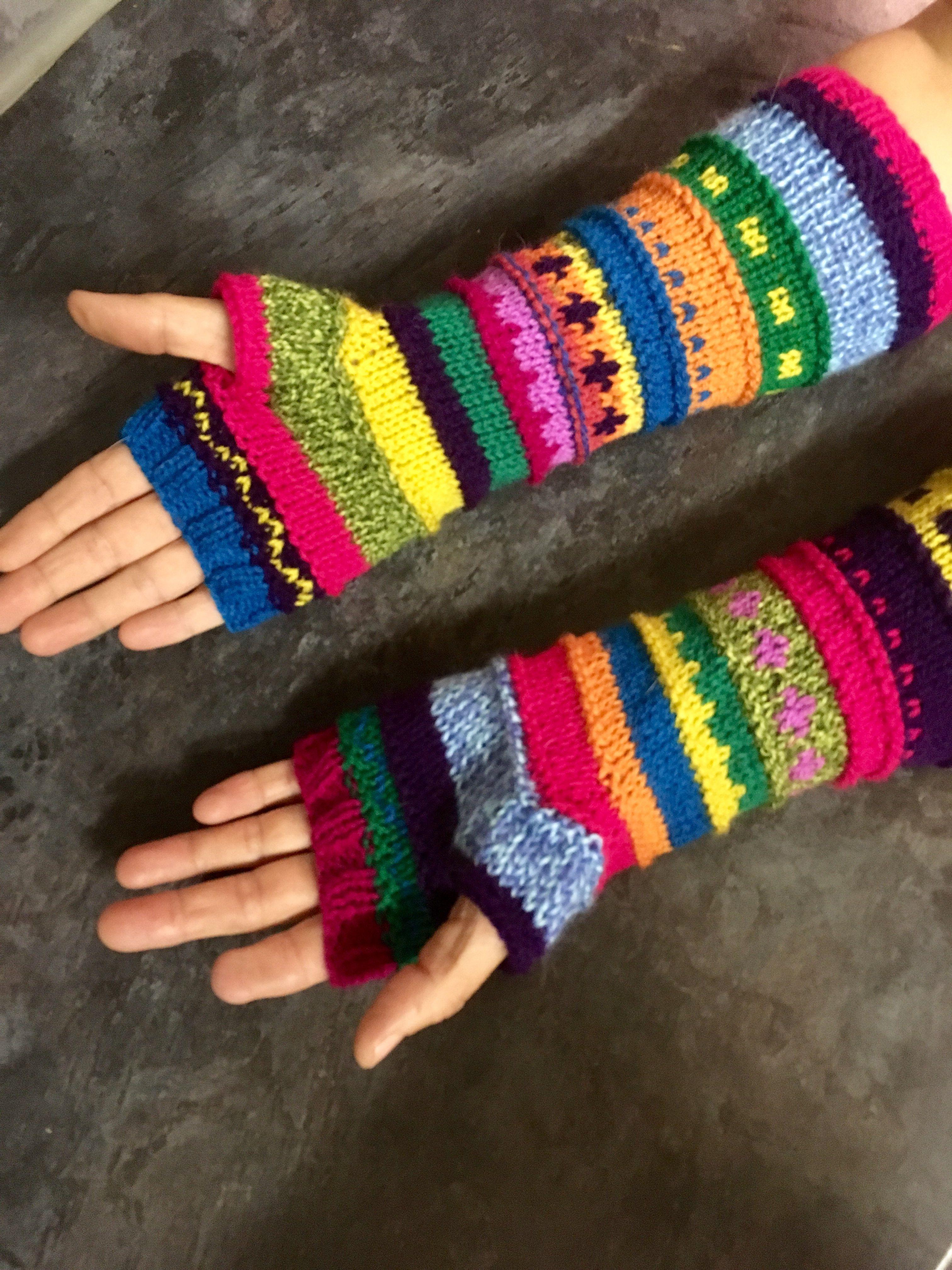 Fingerless gloves two needle free pattern | Crafty Makes | Pinterest ...
