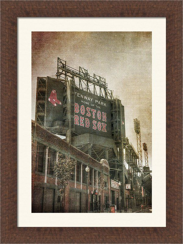 Red Sox Art Print Featuring The Photograph Fenway Park Billboard Boston By Joann