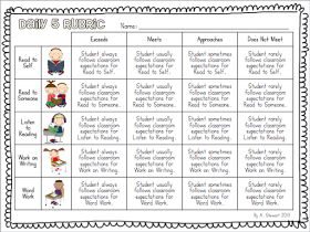 The First Grade Scoop: Free Rubrics for Guided Reading and Daily 5... And a Pending Giveaway?