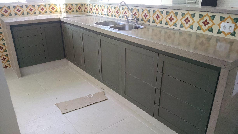 Bancada De Concreto Cozinha De Concreto Bancadas De Cozinha De