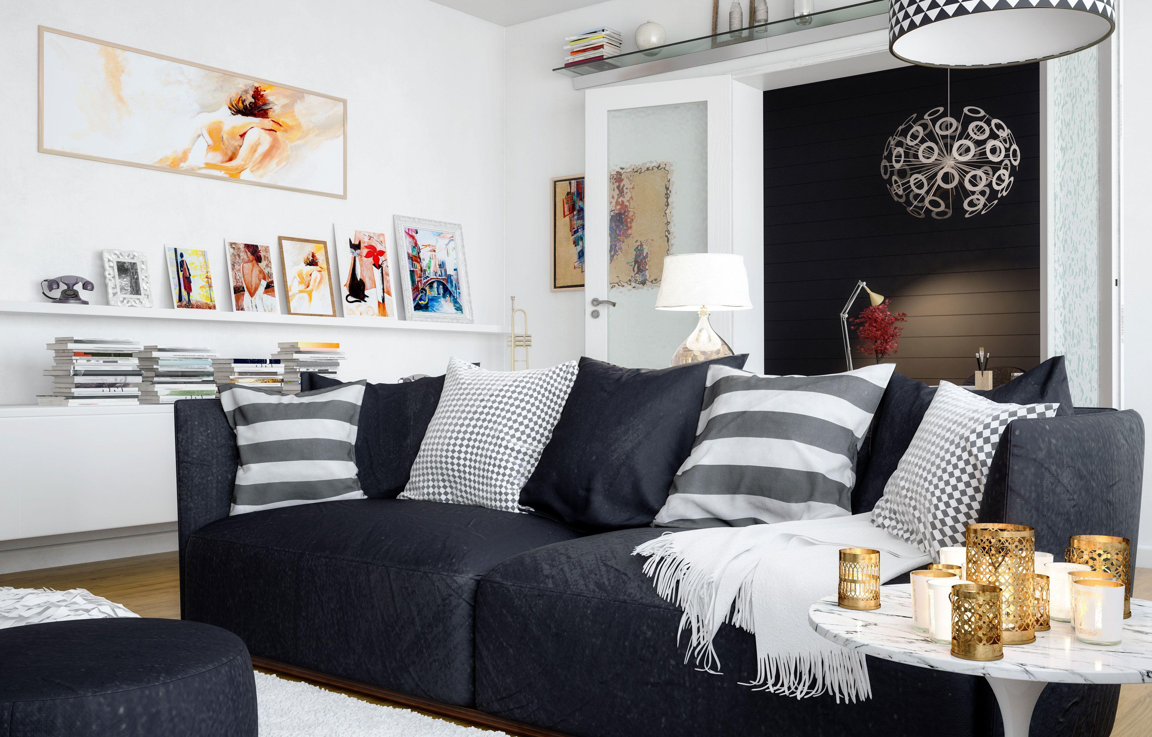 le r le des coussins dans la d coration int rieure nos conseils et astuces salon. Black Bedroom Furniture Sets. Home Design Ideas