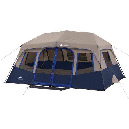 Ozark Trail 10 Person 2 Room Instant Cabin Tent Walmart Com Cabin Tent Cabin Camping Family Tent Camping