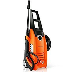Serenelife Electric Pressure Washer Powerful Heavy Duty 2000psi Manual Adjustable High Low Cold Water Sprayer Rolling Wheels Power Wash Spray Clean Concrete Dr Washer Cleaner Pressure Washer Electric Pressure Washer