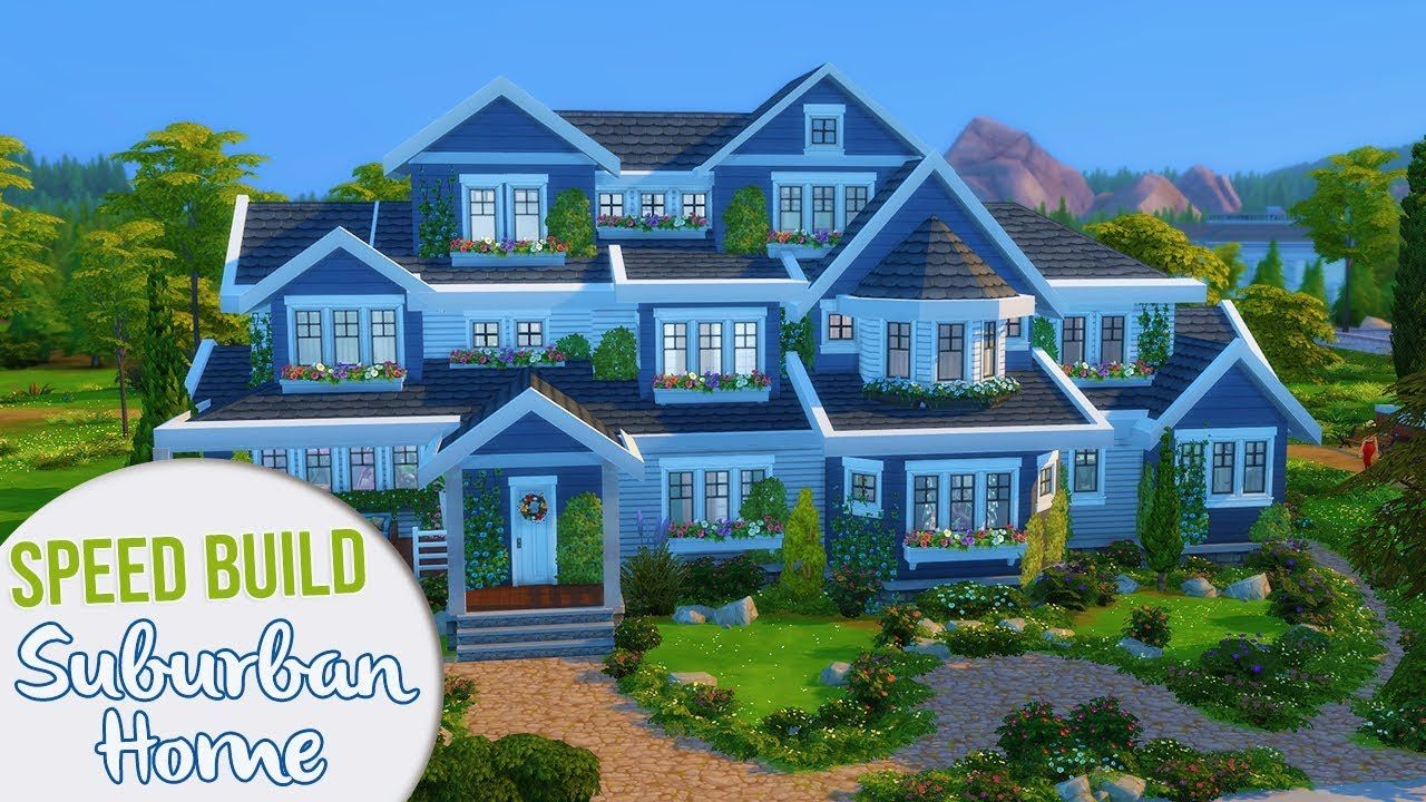 The Sims 4 Speed Build Large Suburban Home Sims 4 House Plans Sims 4 Sims
