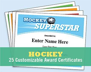 Hockey Certificates Templates  Hockey Certificate And Team Slogans