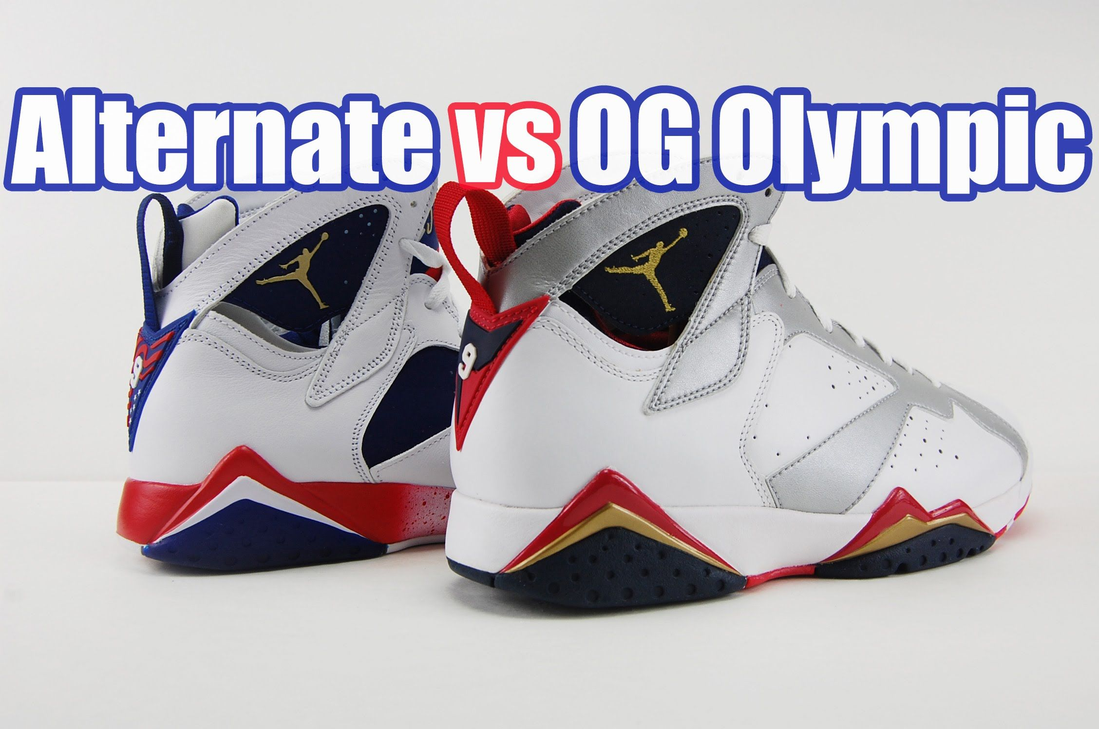 Air Jordan 7 Réelle Vs Yeezys Faux Olympic