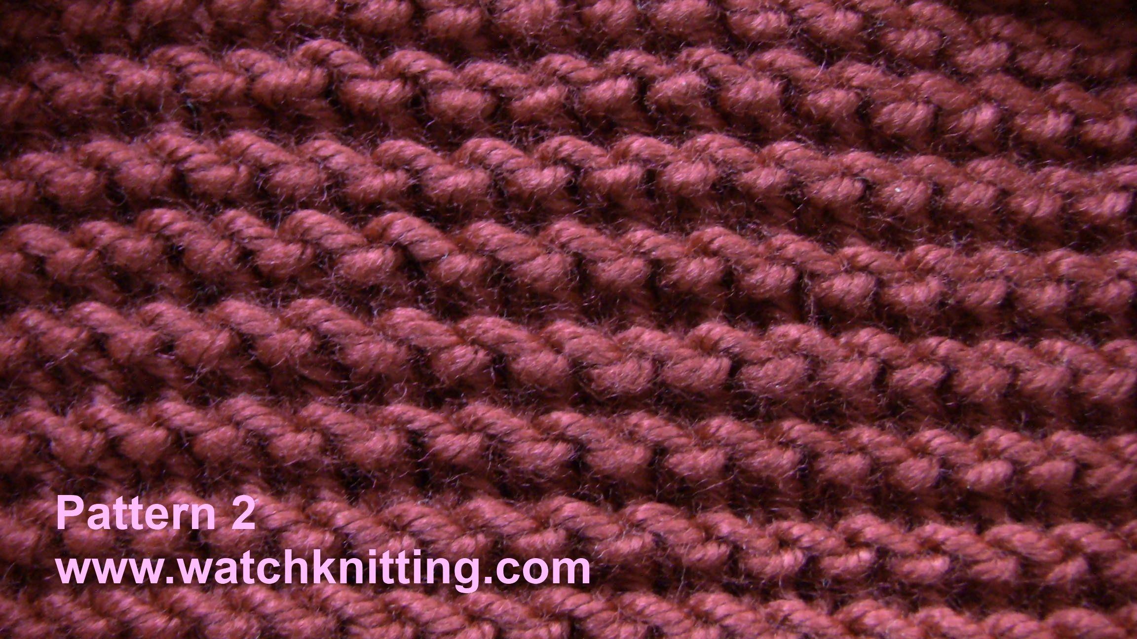 Pattern 2 garter stitch simple knitting stitches watchknitting pattern 2 garter stitch simple knitting stitches watchknitting bankloansurffo Choice Image