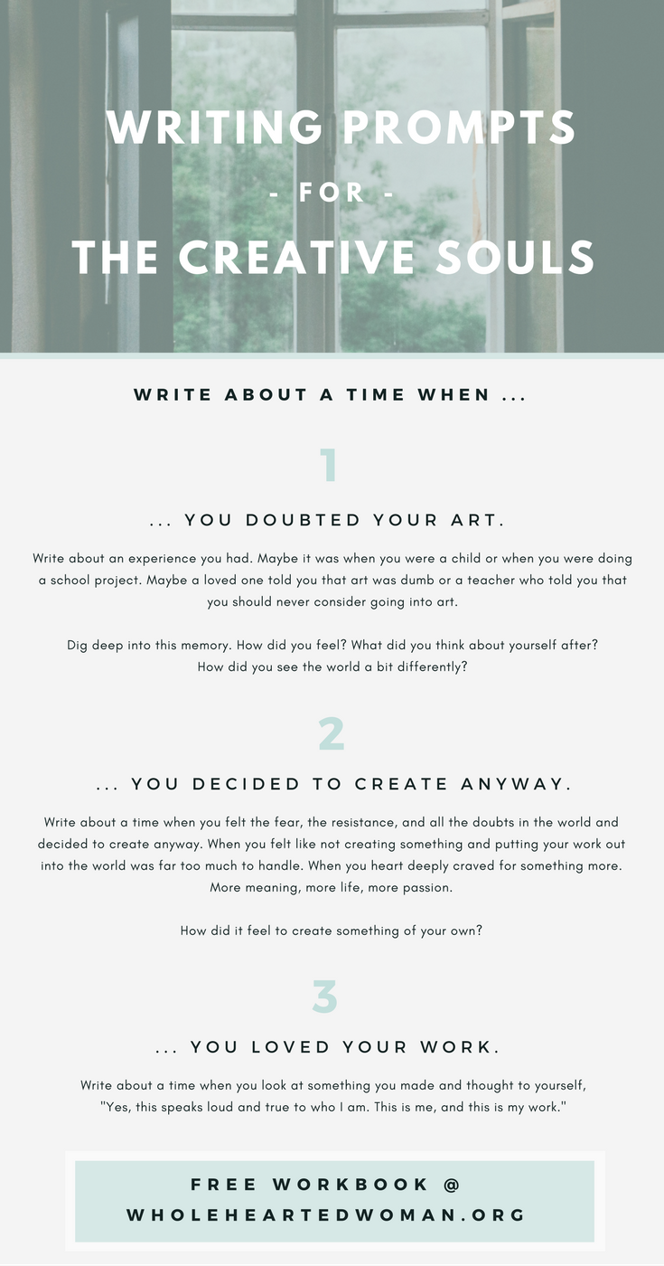 Free writing prompts for the creative soul free resource free writing prompts for the creative soul free resource journaling ideas finding yourself solutioingenieria Gallery