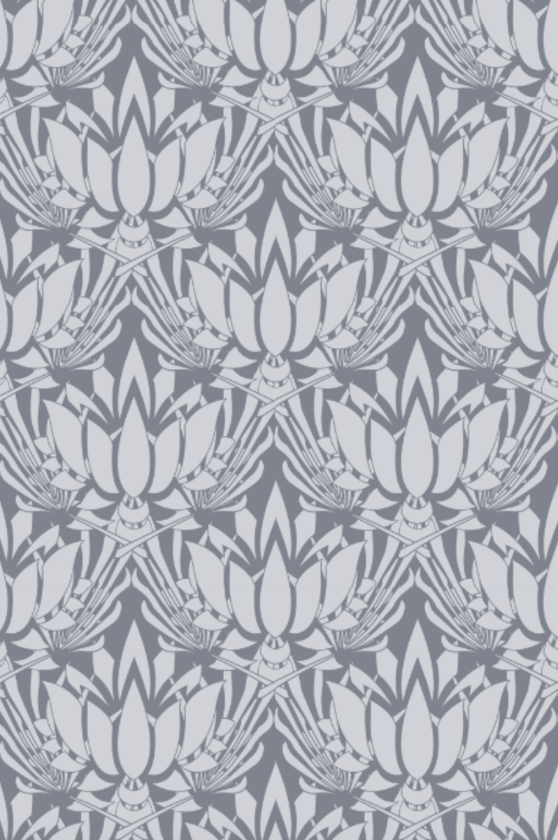 Personally designed by Jennifer Latimer. Available in fabric by the yard and wallpaper. One