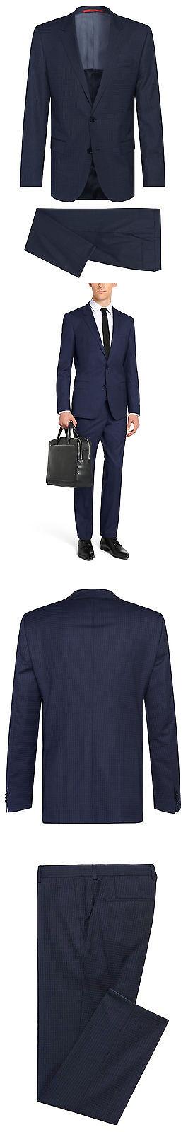 9c3f82c6458 Suits 3001  Hugo Boss Slim Fit Checked Wool 2 Piece Men S Suit C-Huge C-Genius-50326169  Blue -  BUY IT NOW ONLY   382.25 on eBay!