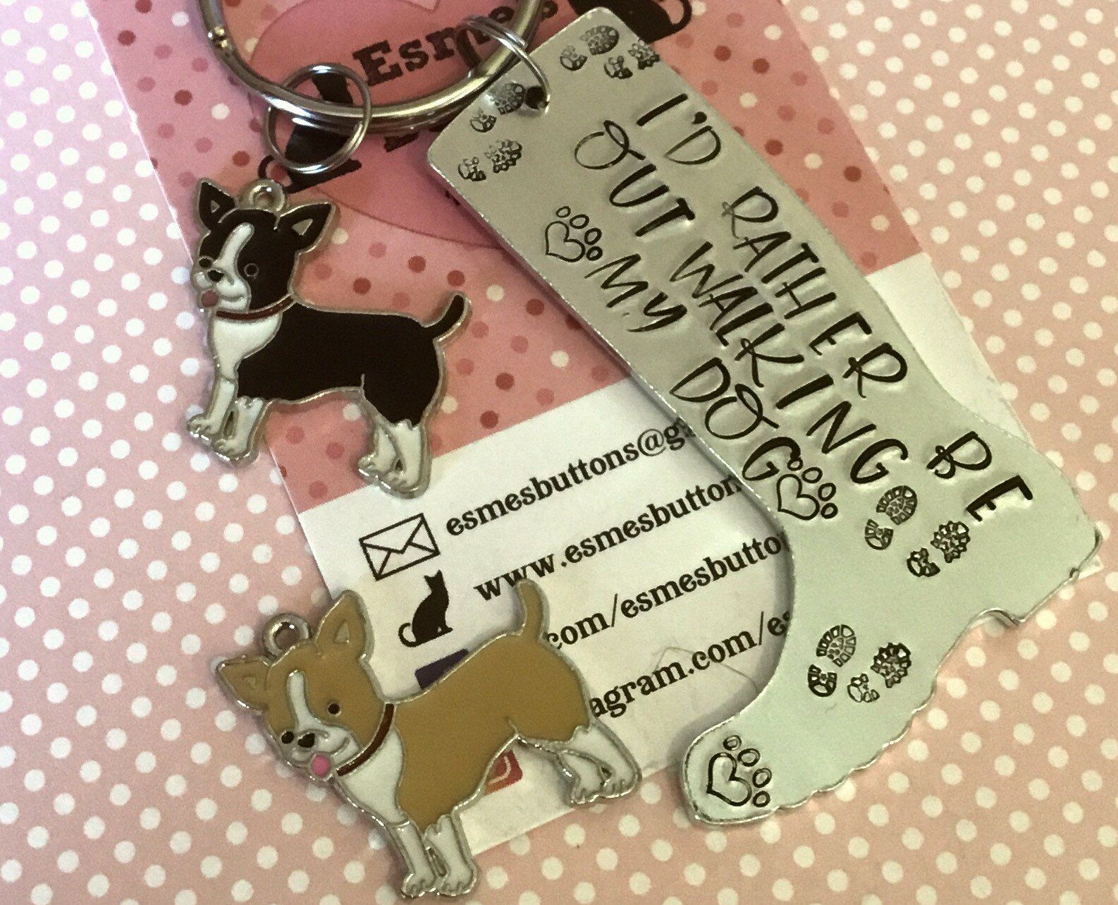 Exceptional Gift Chihuahua Keychain Dog Crystal Keyring