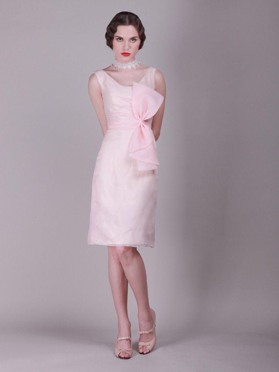Vintage cowl neck wedding dress   Sheath Column Cowl Neckline Knee Length Organdy dress with