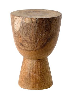 Hand-Carved Inverted Stool by DK Living on Gilt Home