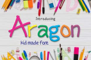 Aragon Font by screen letter Planificador, Fabrica