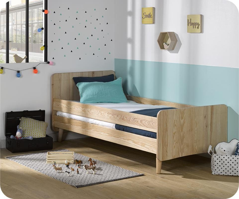 lit enfant willow brut peindre 90x190 cm avec pieds barri re en option jackson 39 s room. Black Bedroom Furniture Sets. Home Design Ideas