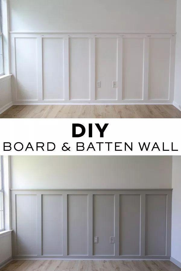 Easy DIY Board and Batten Wall - Angela Marie Made -   - #angela #batten #board #countryhomedecor #DIY #dresserdecor #easy #homedecorapartment #homedecorbedroom #homedecorcozy #homedecordiy #homedecorideas #homedecorlivingroom #homedecoronabudget #marie #modernhomedecor #neutralhomedecor #rustichomedecor #Wall