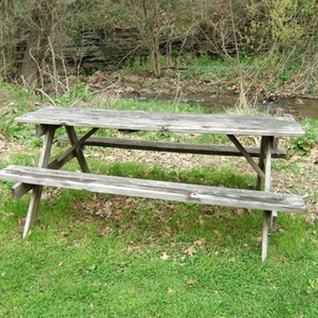 Bench · Turn Your Old Picnic Table ...
