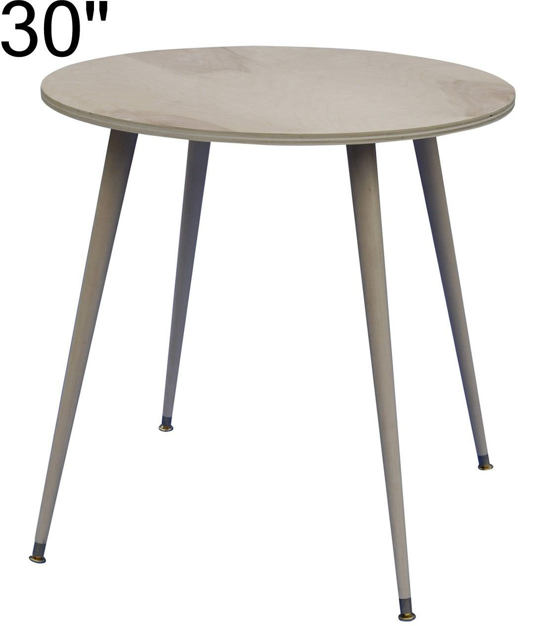 Ready to cover 30 inch wood decorator table - Inch round wood table top ...