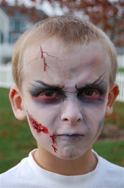 Cool Quick Zombie Face Zombie Halloween Zombie Costume Kids Zombie Costume Diy