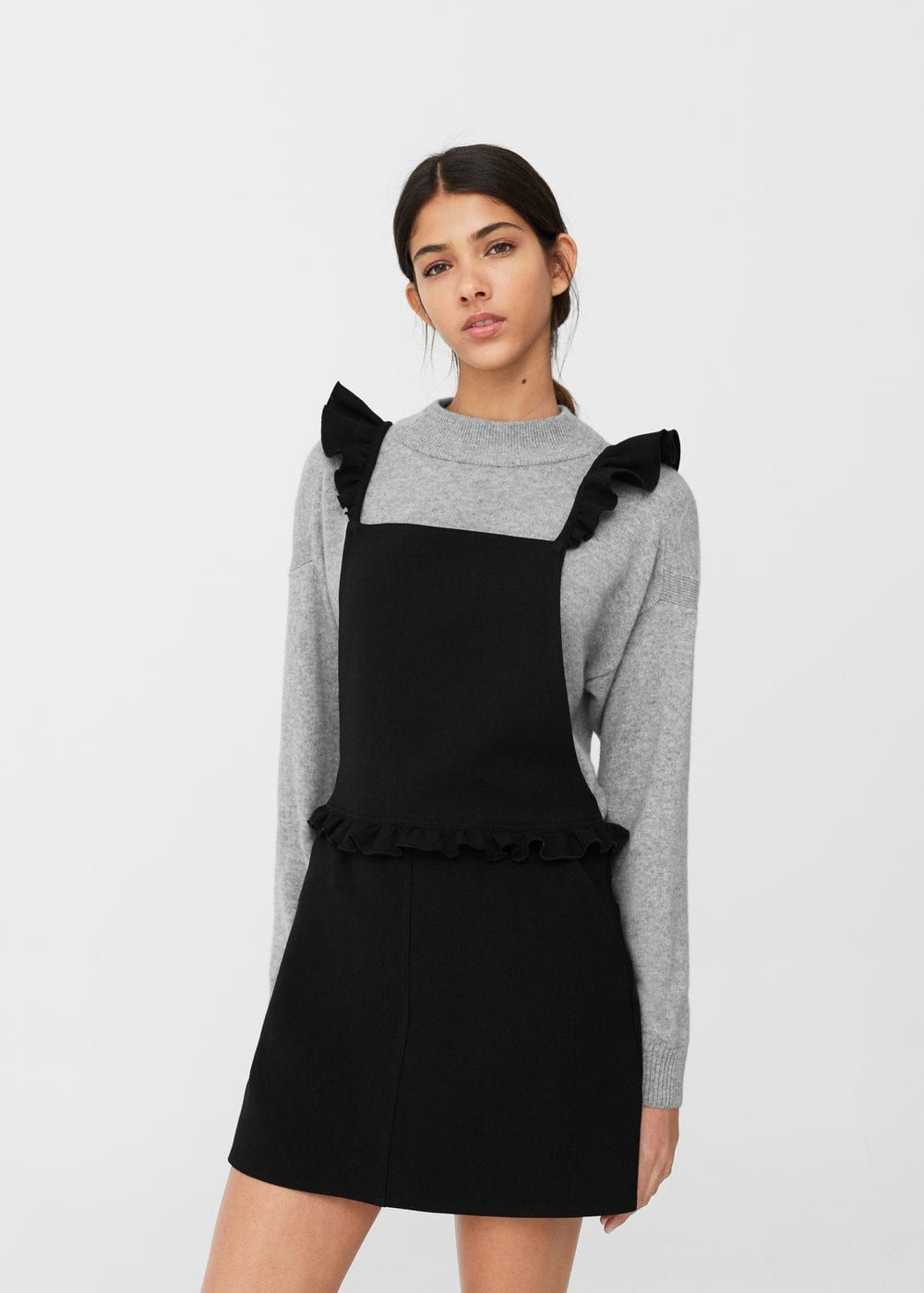 Latzhose mit rschen damen ruffles clothing and fashion fashion ombrellifo Choice Image