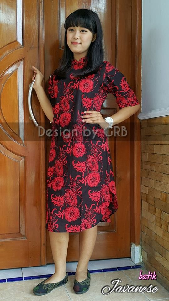 WA 087836092333 Batik Dress Natal Seragam Batik Natal Dress