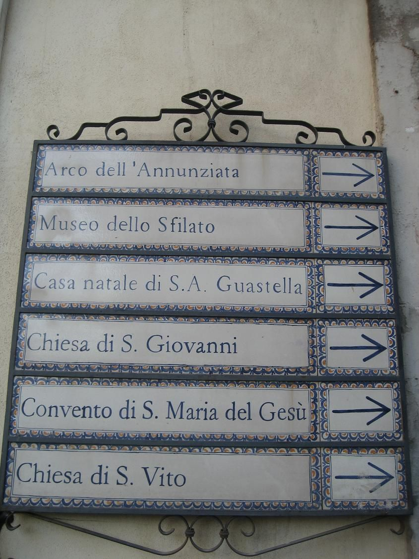 Road signs in baroque style